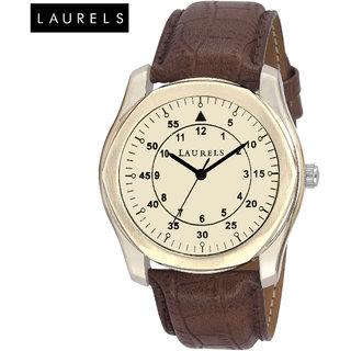 Laurels Gatsby Ivory Dial Men'S Watch - Lo-Gt-101