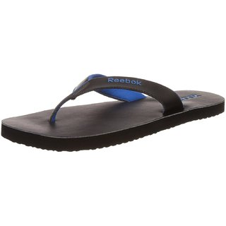 6f60b2a8120072 Reebok Men S Advent II Black And Blue Sport Flip Flops And House Slippers