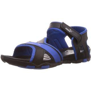 74f776ca6984 Puma Men S Gadwall DP Black Strong Blue Gray Dawn Sandals And Floaters