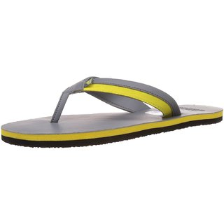 Adidas Men'S Brizo 3.0 Grey And Bright Yellow Flip Flops And House Slippers