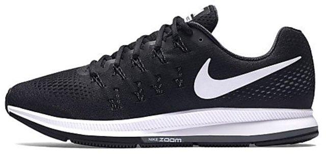 nouveau concept ba557 b2fec Nike Men'S Air Zoom Pegasus 33 Black & White Running Shoes