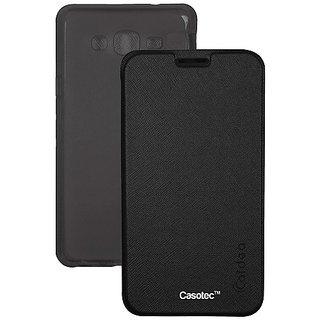on sale 6350d 42e42 Caidea Flip Case Cover With Silicon Tpu Back For Samsung Galaxy Grand Prime  G530 - Black