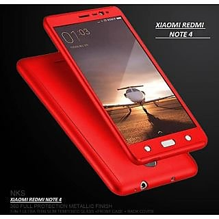 the best attitude 4fe31 7d533 iPaky 360 Redmi NOTE 4 Full Protection PC Front Back Cover Case (WITH FREE  TEMPERED GLASS)