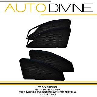 SKODA LAURA, Car Accessories Side Window Zipper Magnetic Sun Shade, Set of 4 Curtains.