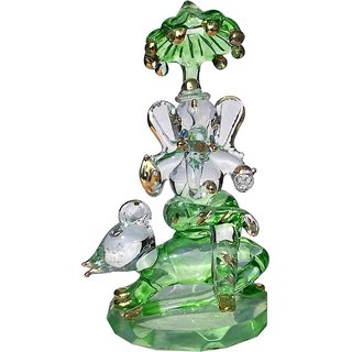 Craftsells Crystal Mouse Ganesh whith Chhatri