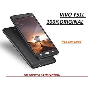iPaky 360 VIVO Y51 Full Protection PC Front Back Cover Case (WITH FREE TEMPERED GLASS)