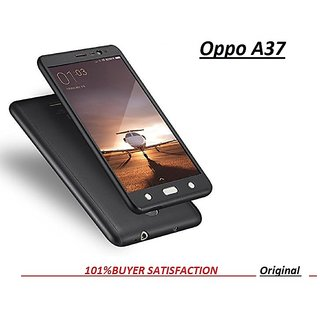 official photos 01ebd e9282 iPaky 360 OPPO A37 Full Protection PC Front Back Cover Case (WITH FREE  TEMPERED GLASS)