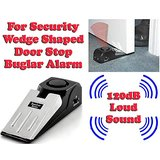 Gadget Hero's 120 DB Wedge Shaped Door Stop Buglar Alarm Block System For Security & Safety Loud Sound Handy Portable Personal Anti Theft System