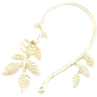 Gold Floral Earcuffs For Women