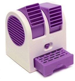 Portable Mini Air Conditioner Dual-Port  Fan Purple