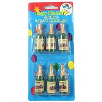 CANDLES- Champagne Bottle (Pack Of 6 Candles)
