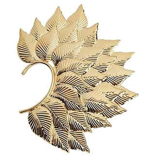 Deepika Padukone Inspired Fohawk Leaf Gold Ear Cuff Earring By CrazeeMania
