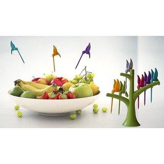Beautiful and Trendy Birdie Fruit Fork Set of 6