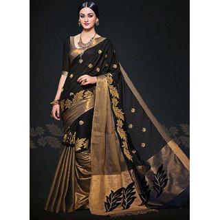 b8f078373f40b Buy Devaram Black Embroidered Art Silk Saree With Blouse Online - Get 64%  Off