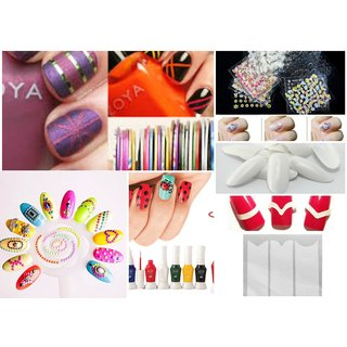 Latest Nail Art Kit Combo 2 Complete Set For Birthday Gift Girls Women New Year