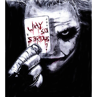 Why So Serious Heath Ledger Wall Decor Poster Wallpaper