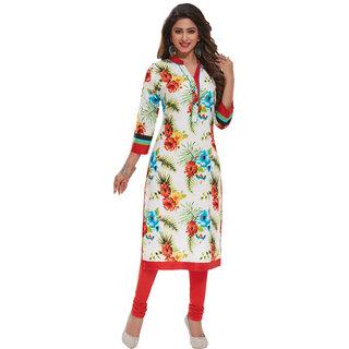 Pari Multicolor Printed Cotton Unstitched Kurti