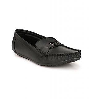 Lee Peeter Men's Black Loafers