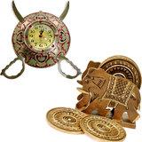 Buy Brass Sword Armour Clock & Get Tea Coaster Free