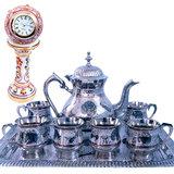 Buy Meenakari Royal Tea Set & Get Marble Clock Free