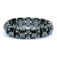 Magnetic Black Bracelet With Magnetic Mala (combo Pack)