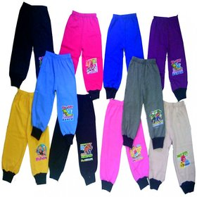 Om Shree Boy's Track Pants - Multicolor (Pack Of 10)