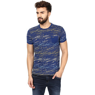 296142391de2 Buy Mufti Mens Blue Slim Fit Tshirts Online - Get 0% Off
