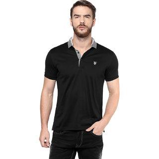 30e74519c72a Buy Mufti Mens Black Slim Fit Tshirts Online   ₹1599 from ShopClues