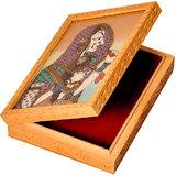 Ethnic Gemstone Painted Wooden Ethnic Jewelry Box 355