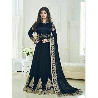 b9fefb55ba Buy Ethnic Empire Designer Beautiful Navy Blue Long Anarkali Suit for women  girls Online - Get 64% Off