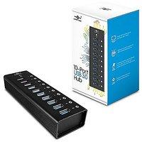 Vantec Aluminum 10-Port USB 3.0 Hub With Power Adapter