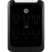 GE 11158 Surge Tap, 6 Outlets, 540J, Gloss Black