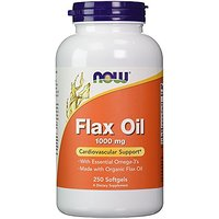NOW Foods Flax Oil 1000mg, 250 Softgels