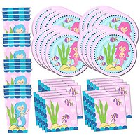 Mermaids Under The Sea Birthday Party Supplies Set Plat