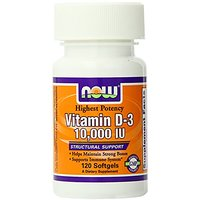 Now Foods Vitamin D-3 10,000 IU 120 Soft Gels