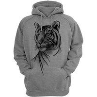 AQSHA Men's Grey Hooded SweatShirt