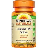 Sundown Naturals L-Carnitine 500 Mg, 30 Tablets
