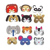Rhode Island Novelty 12 Assorted Foam Animal Masks For