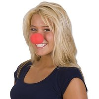 Rhode Island Novelty Foam Clown Noses, Red, 24-Pack
