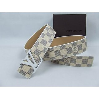 11ee8a3ba7f3 wholesale sale discount Louis Vuitton LV Initials Damier Azur Belt ...