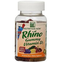Nutrition Now Rhino Gummy Vitamin D3, 60 Count