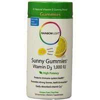 Rainbow Light Vitamin D3 (1000 IU) Sunny Gummies, Lemon