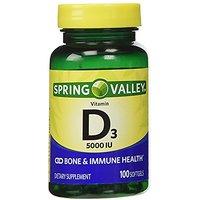 Spring Valley - Vitamin D-3 5000 IU, 100 Softgels