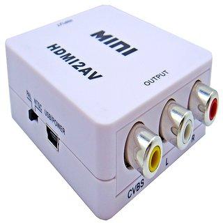 Storite Mini HDMI to AV Composite RCA CVbS Video + Audio Converter for TV PS3