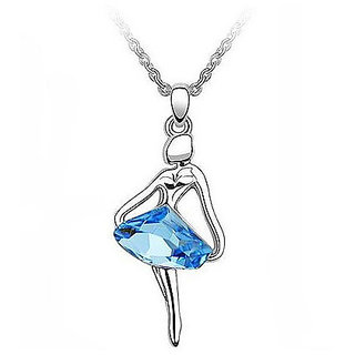 Cinderella Platinum Plated Crystal Dancing Girl Necklace