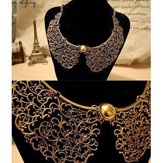 Cinderella Carved Metal Collar Necklace