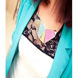Cinderella Geometric Blocks Statement Necklace