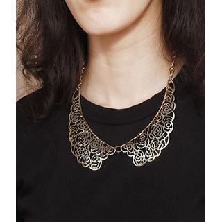 Cinderella Stylish And Trendy Golden Statement Necklace