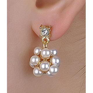 Cinderella Pearl Floral Hanging Earrings