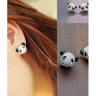 Cinderella Teddy Studded Ear Stud